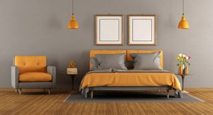 chambre gris taupe